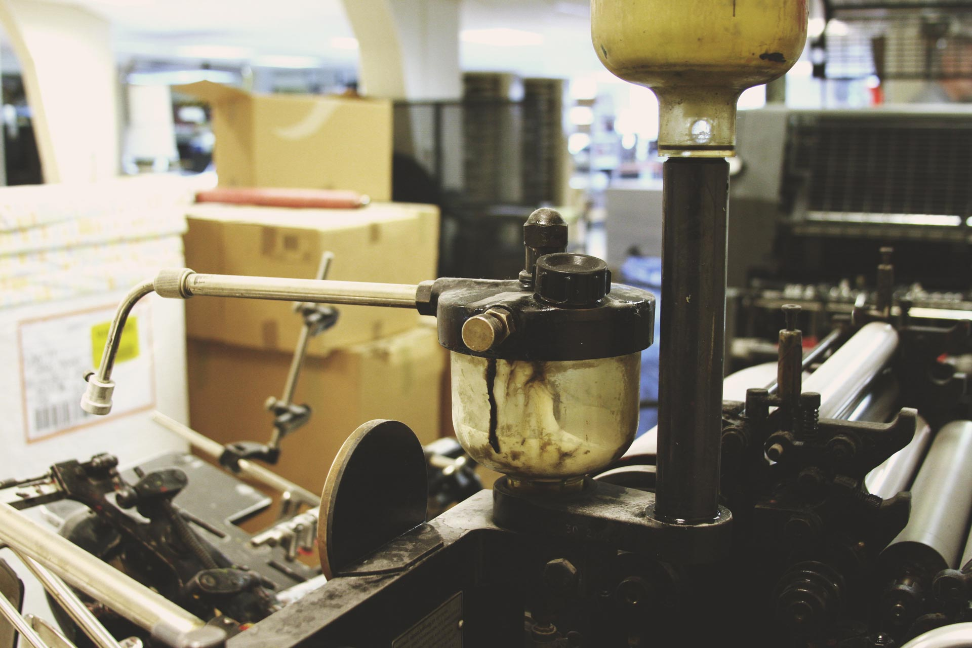 Old time printing press
