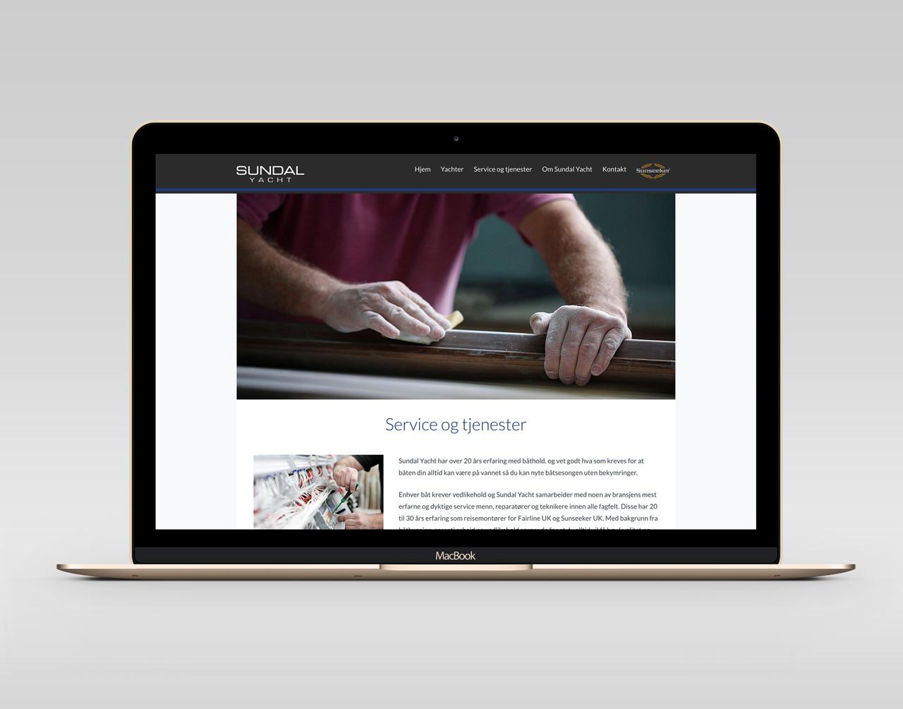 Sundal yacht webdesign av cicero