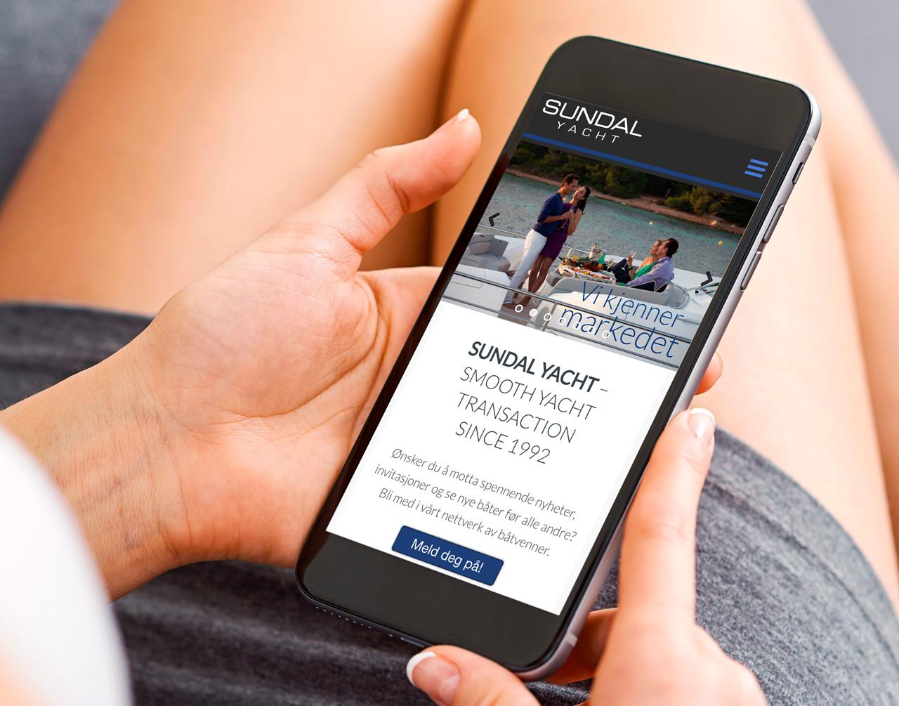 Sundal yacht webdesign mobil av cicero