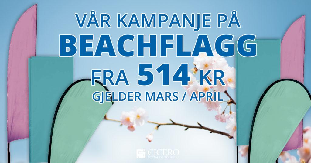 Vårkampanje beachflagg